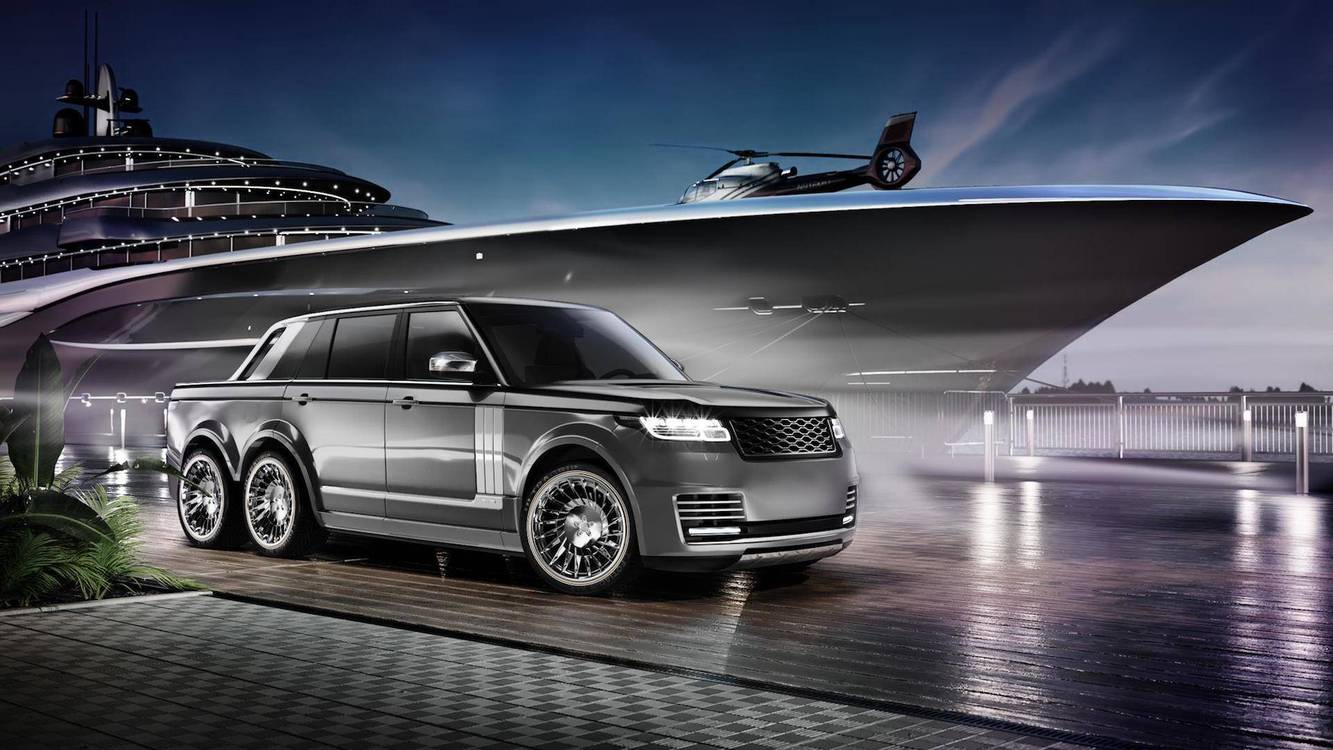 Range Rover со погон на 6 тркала