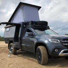 Mercedes-Benz X класата претворена во возило за кампување