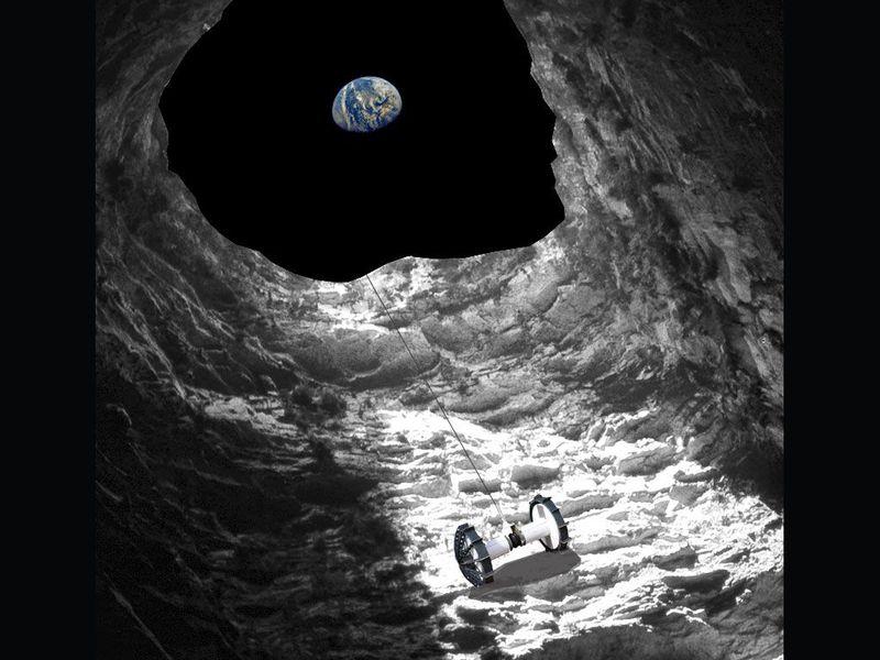 НАСА планира да ги истражува пештерите под површината на Месечината