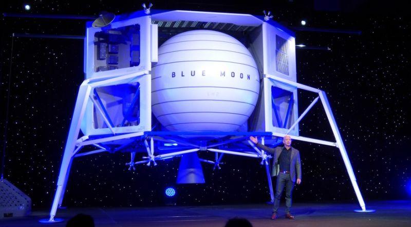 Џеф Безос го претстави концептот на лунарен лендер