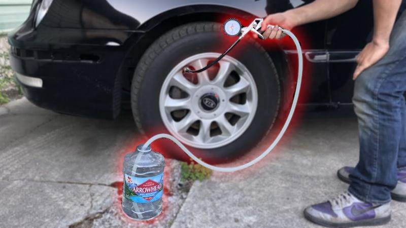 Што се случува со автомобилските гуми кога ќе ги наполните со вода