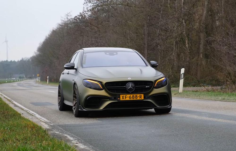 Mercedes AMG E63 S катапултиран до 307 километри на час