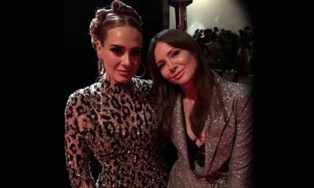 Речиси непрепознатлива – Адел на забавата по доделувањето на наградата Оскар